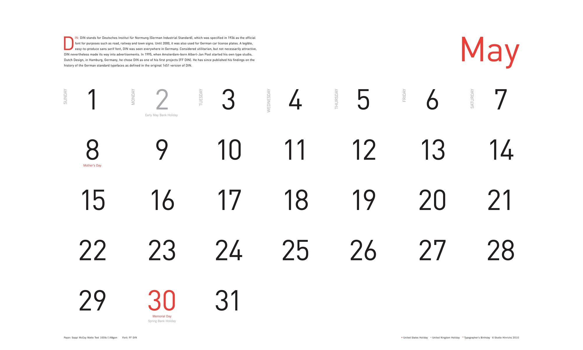 Calendar Typography S : Kit hinrichs s typography calendar infinite diaries