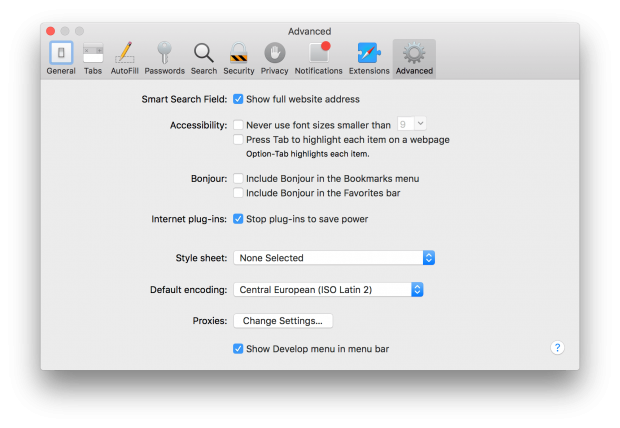 Safari Technology preview Settings 03