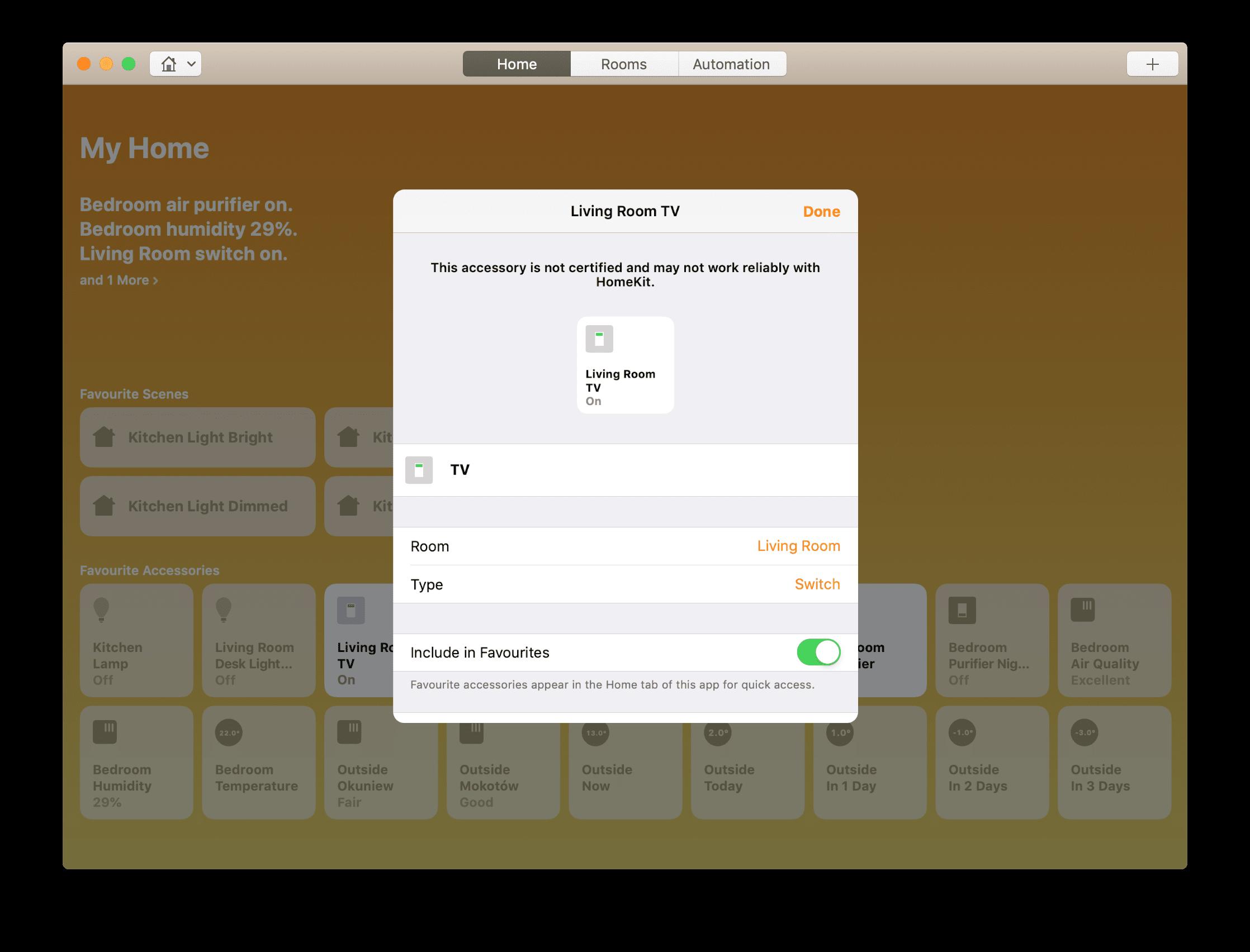 Adding my Logitech Harmony Hub (TV, AV receiver, and Apple TV) to
